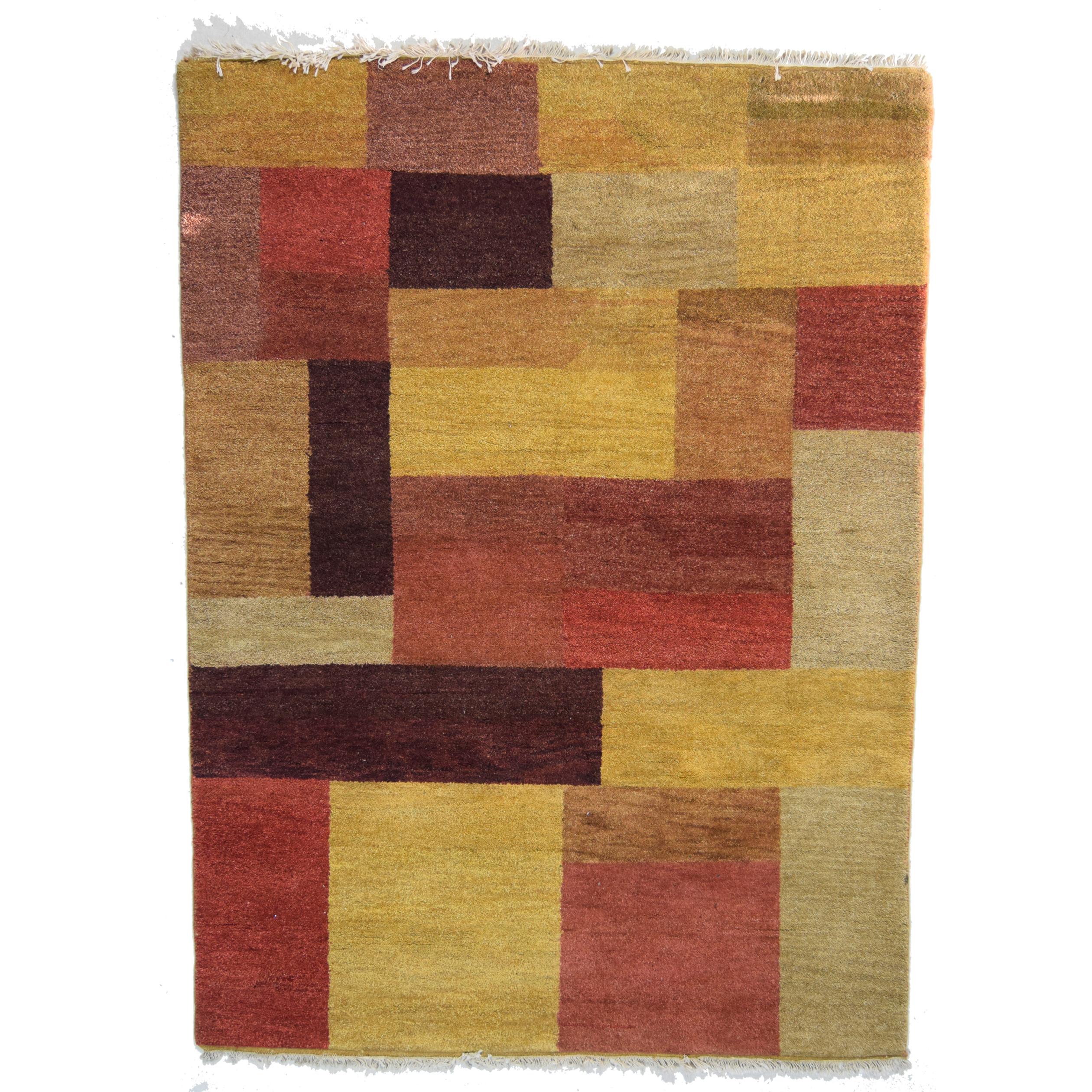 Modern Rugs :: Handloom Carpet 200x147cm INDIAN WOOLLEN
